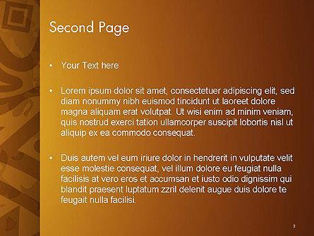 Brown Ethnic Ornament PowerPoint Template, Slide 2, 14540, Art & Entertainment — PoweredTemplate.com