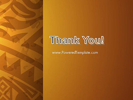 Brown Ethnic Ornament PowerPoint Template Slide 20