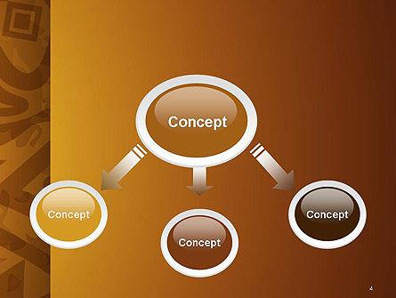 Brown Ethnic Ornament PowerPoint Template, Slide 4, 14540, Art & Entertainment — PoweredTemplate.com