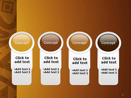 Brown Ethnic Ornament PowerPoint Template Slide 5