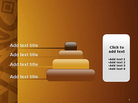 Brown Ethnic Ornament PowerPoint Template Slide 8