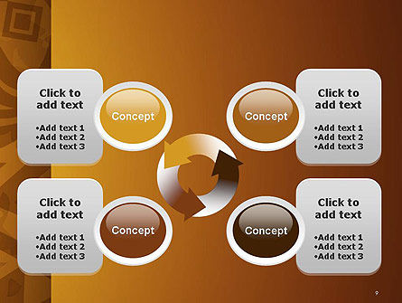 Brown Ethnic Ornament PowerPoint Template Slide 9