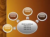 Brown Ethnic Ornament PowerPoint Template#7