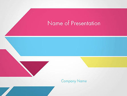 color papers geometry flat composition powerpoint template