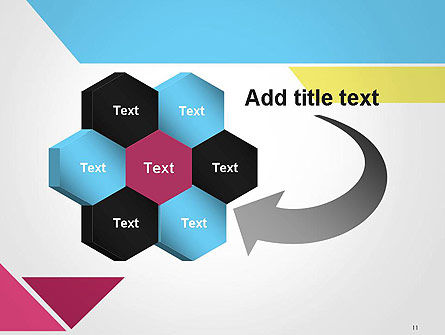 Color Papers Geometry Flat Composition PowerPoint Template Slide 11
