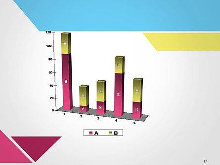 Color Papers Geometry Flat Composition PowerPoint Template Slide 17
