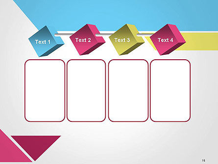Color Papers Geometry Flat Composition PowerPoint Template Slide 18