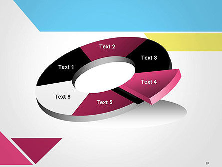 Color Papers Geometry Flat Composition PowerPoint Template Slide 19
