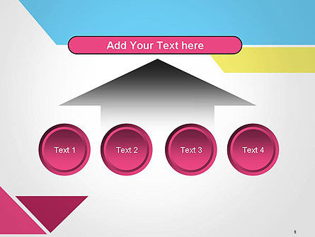 Color Papers Geometry Flat Composition PowerPoint Template Slide 8