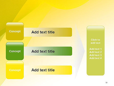 Yellow-green Abstract Soft Background PowerPoint Template Slide 12