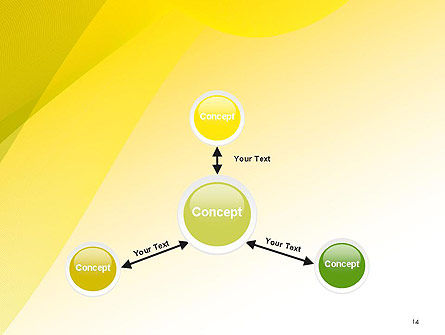 Yellow-green Abstract Soft Background PowerPoint Template Slide 14