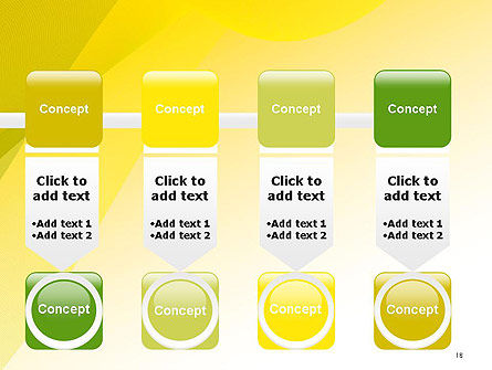 Yellow-green Abstract Soft Background PowerPoint Template Slide 18
