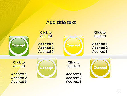 Yellow-green Abstract Soft Background PowerPoint Template Slide 19