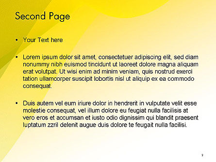 Yellow-green Abstract Soft Background PowerPoint Template Slide 2