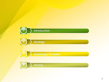 Yellow-green Abstract Soft Background PowerPoint Template Slide 3
