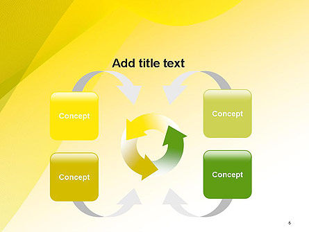 Yellow-green Abstract Soft Background PowerPoint Template Slide 6