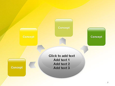 Yellow-green Abstract Soft Background PowerPoint Template Slide 7
