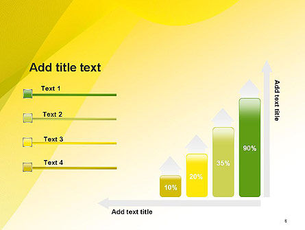 Yellow-green Abstract Soft Background PowerPoint Template Slide 8
