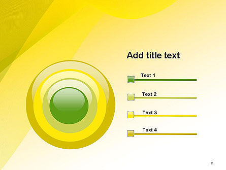 Yellow-green Abstract Soft Background PowerPoint Template Slide 9