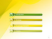 Yellow-green Abstract Soft Background PowerPoint Template#3