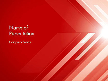 Abstract Red Tech Arrows Background PowerPoint Template