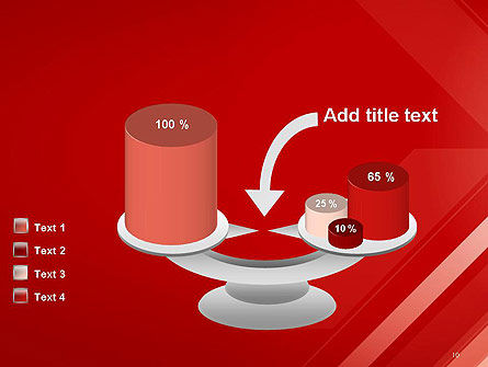 Abstract Red Tech Arrows Background PowerPoint Template Slide 10