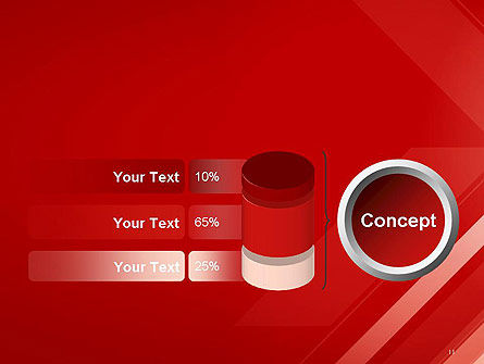 Abstract Red Tech Arrows Background PowerPoint Template Slide 11