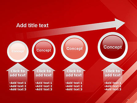 Abstract Red Tech Arrows Background PowerPoint Template Slide 13