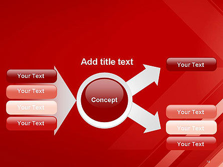 Abstract Red Tech Arrows Background PowerPoint Template Slide 14