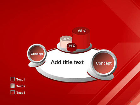 Abstract Red Tech Arrows Background PowerPoint Template Slide 16
