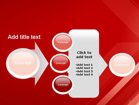 Abstract Red Tech Arrows Background PowerPoint Template Slide 17