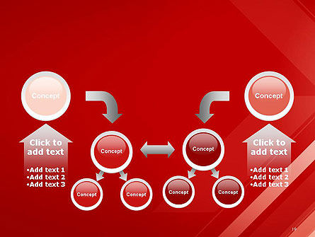 Abstract Red Tech Arrows Background PowerPoint Template Slide 19