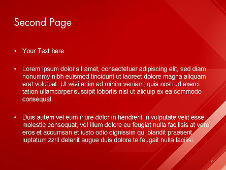 Abstract Red Tech Arrows Background PowerPoint Template Slide 2