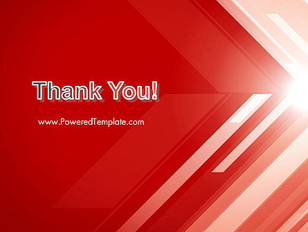 Abstract Red Tech Arrows Background PowerPoint Template Slide 20