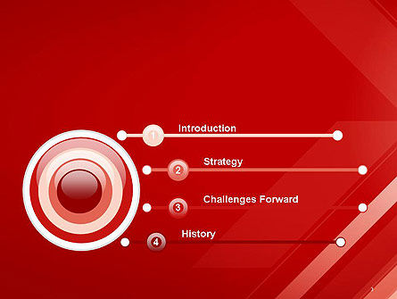 Abstract Red Tech Arrows Background PowerPoint Template Slide 3