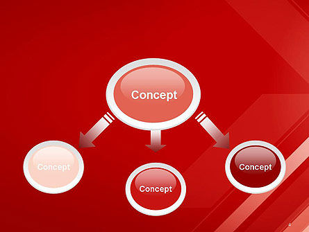 Abstract Red Tech Arrows Background PowerPoint Template Slide 4