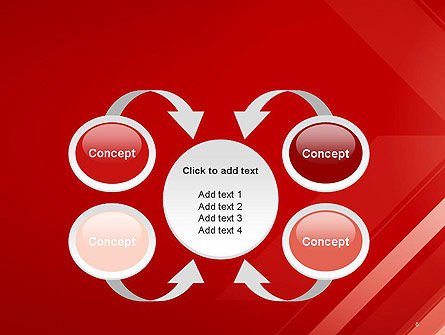 Abstract Red Tech Arrows Background PowerPoint Template Slide 6