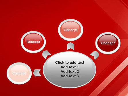 Abstract Red Tech Arrows Background PowerPoint Template Slide 7