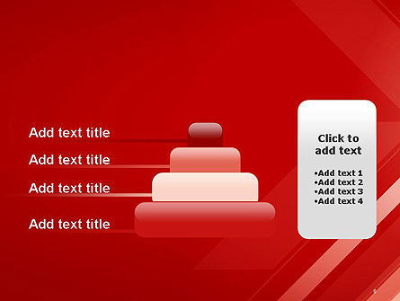 Abstract Red Tech Arrows Background PowerPoint Template Slide 8