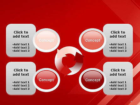Abstract Red Tech Arrows Background PowerPoint Template Slide 9