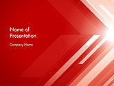 Abstract/Textures: Abstract Red Tech Arrows Background PowerPoint Template #14545