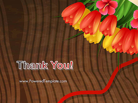 Bunch Of Flowers On Wooden Surface PowerPoint Template Slide 20
