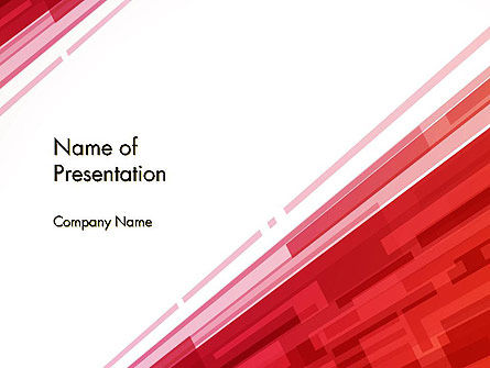 Abstract Background with Red Diagonal Stripes PowerPoint Template