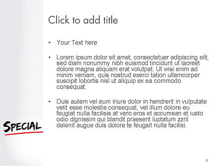 A Hand Writing 'Special Offer' with Marker PowerPoint Template, Slide 3, 14549, Business Concepts — PoweredTemplate.com