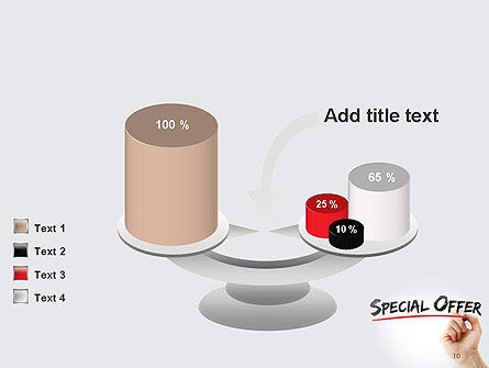 A Hand Writing 'Special Offer' with Marker PowerPoint Template Slide 10