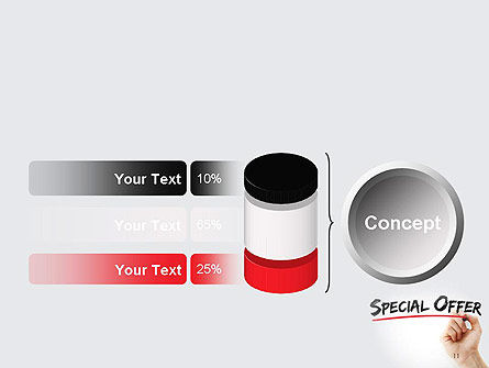 A Hand Writing 'Special Offer' with Marker PowerPoint Template Slide 11