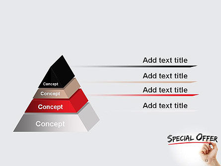 A Hand Writing 'Special Offer' with Marker PowerPoint Template Slide 12