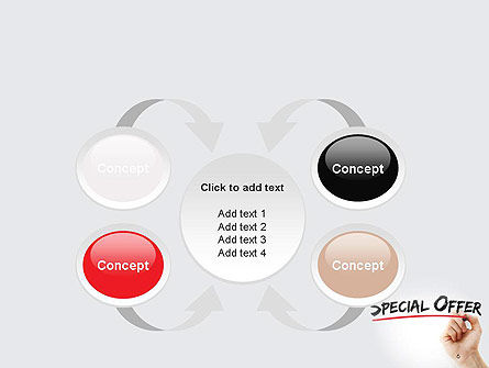 A Hand Writing 'Special Offer' with Marker PowerPoint Template Slide 6