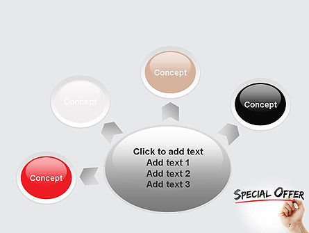 A Hand Writing 'Special Offer' with Marker PowerPoint Template Slide 7