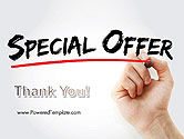 A Hand Writing 'Special Offer' with Marker PowerPoint Template#20